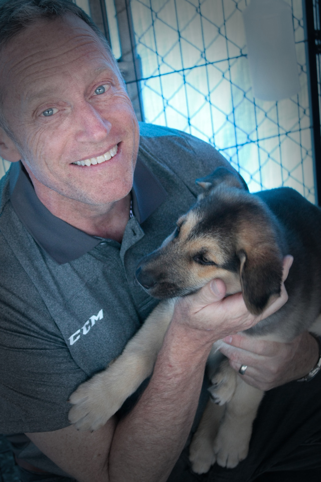 Mike with puppy 1