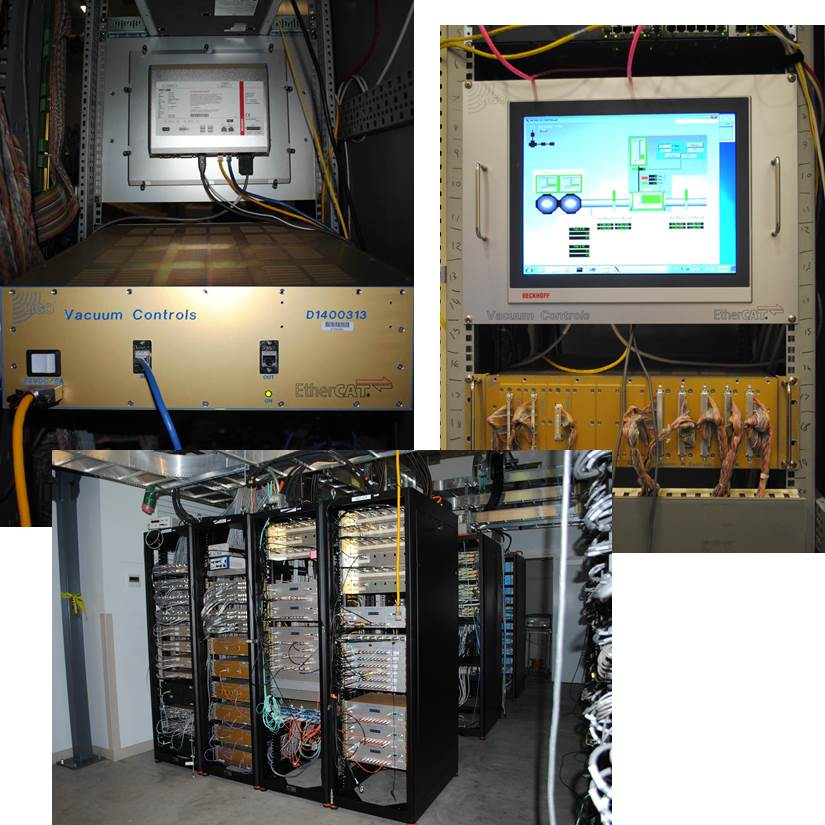Vacuum controls electronics 1, 2, 3, 4 collage