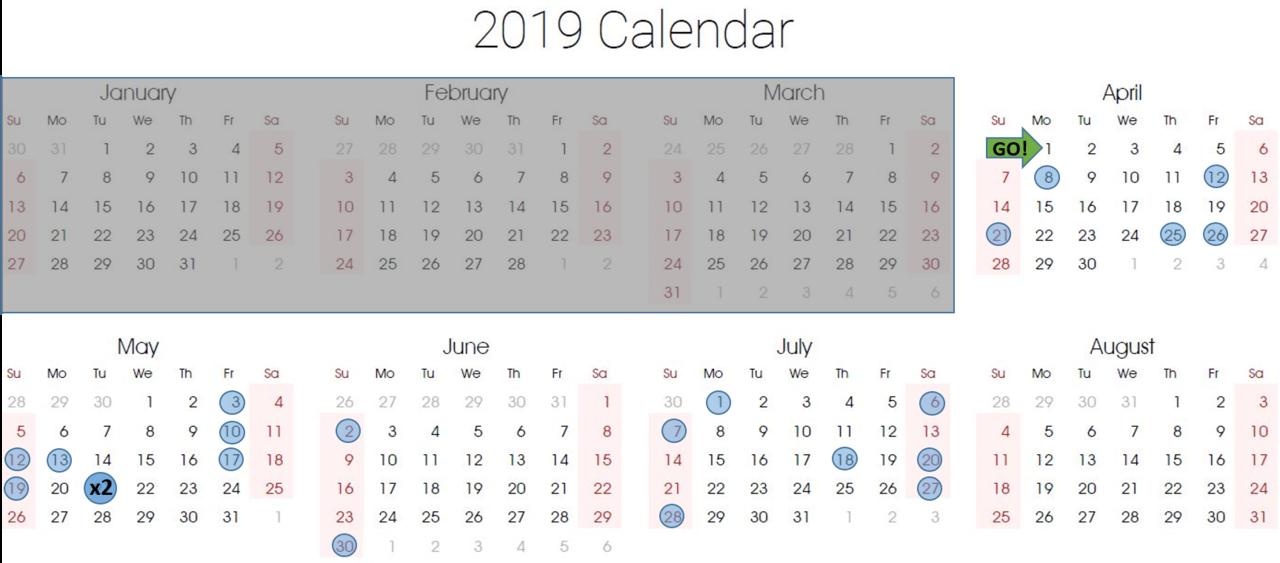 Candidate Calendar