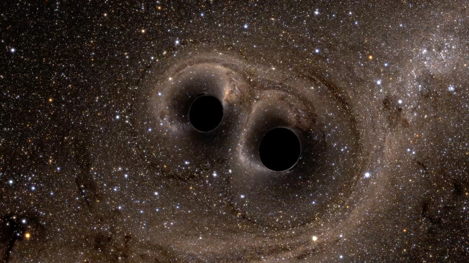 two black holes collide - photo #2